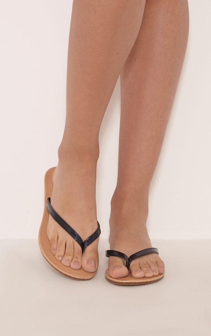 Lanee Black Flip Flops 1