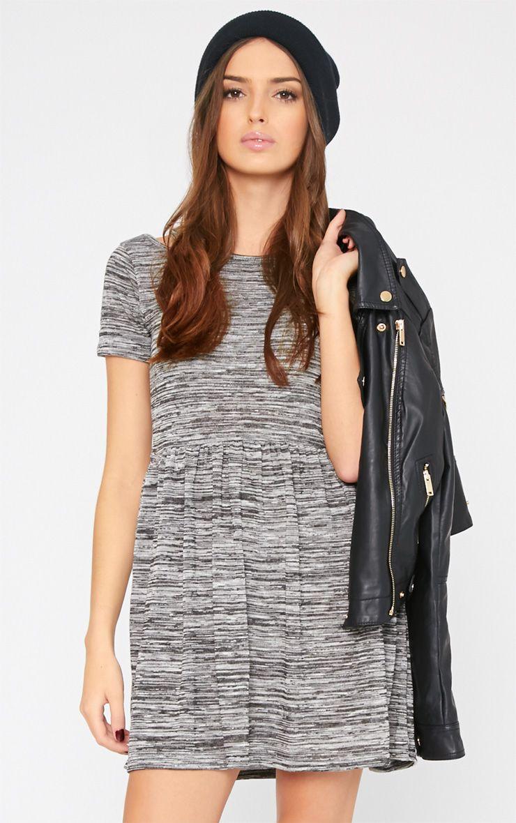 Layla Grey Marl Cut Out Shoulder Dress 1