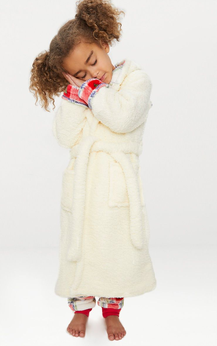Polar Bear Cream Christmas Dressing Gown