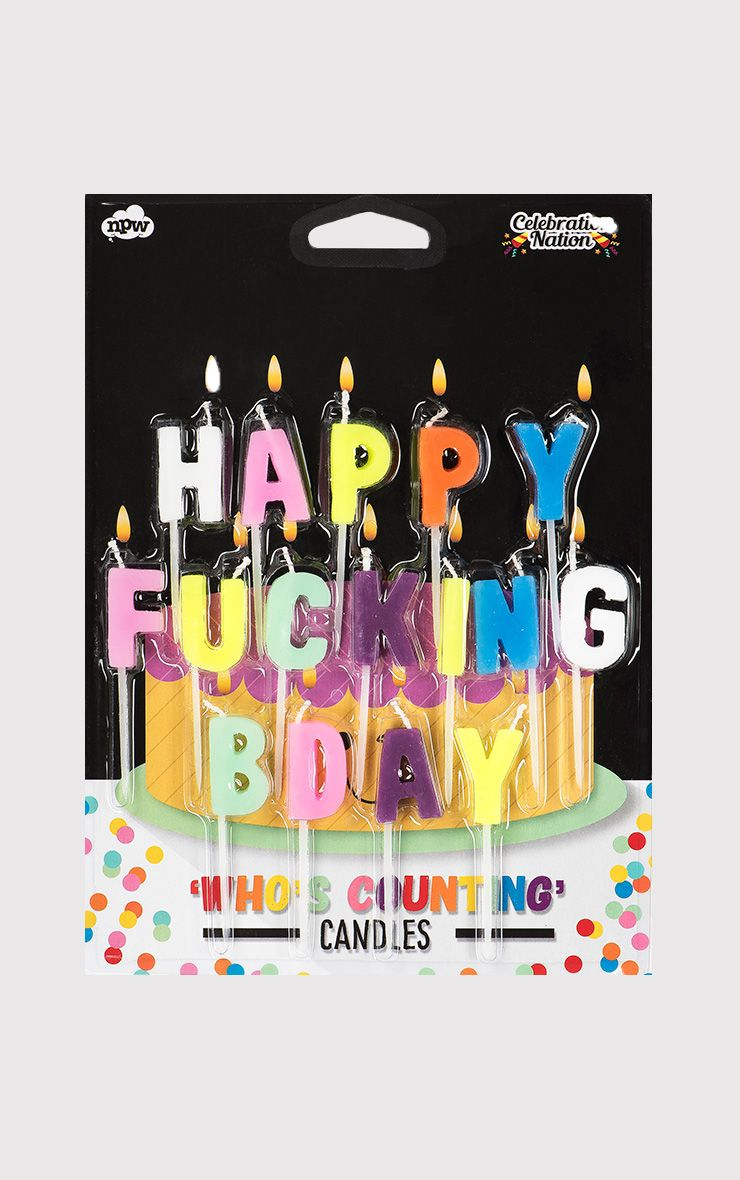 'Happy F*cking Birthday' Candles