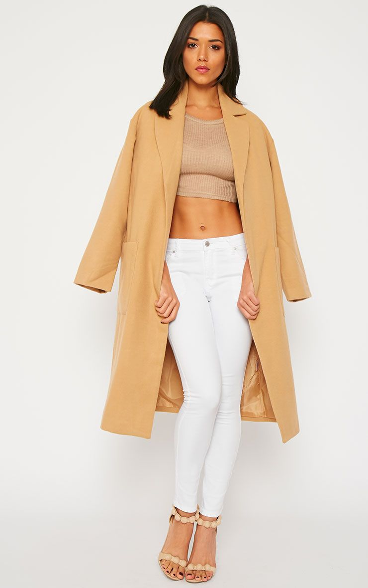 Trisha Camel Long Coat 1