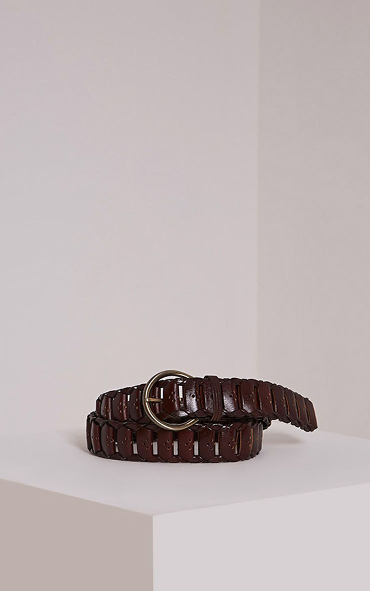 Renata Oxblood Leather Link Belt 1
