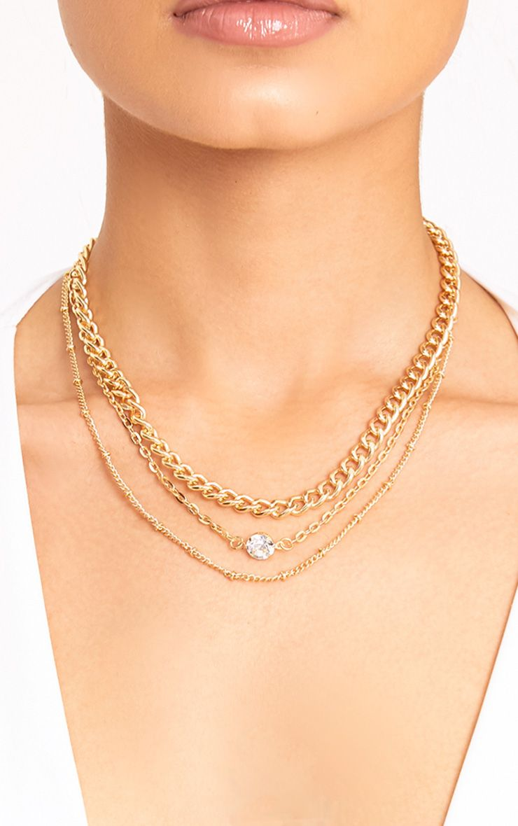 Haley Gold Chain Layered Necklace