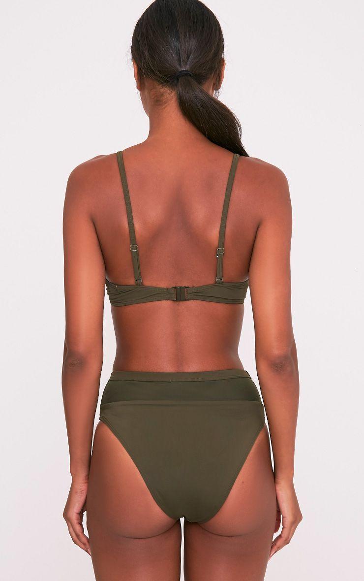 Genny top de bikini à coordonner kaki 2