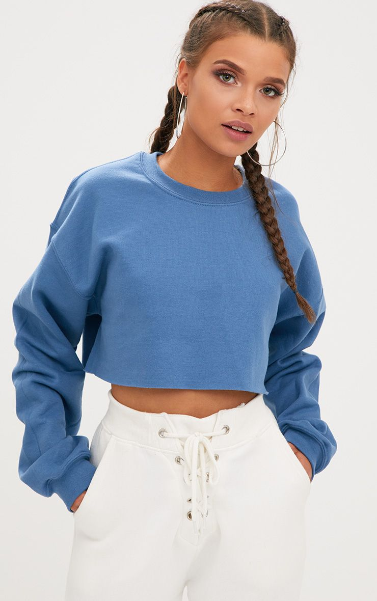 Indigo Ultimate Cropped Sweater