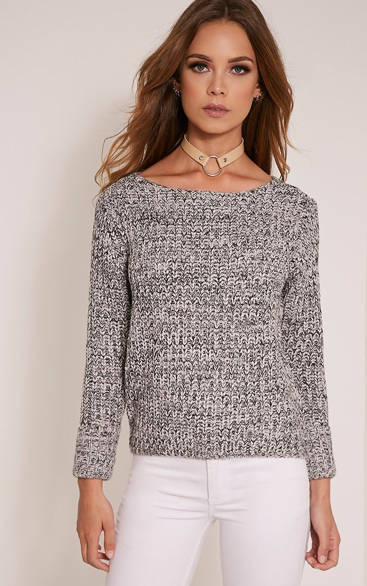 Alura Grey Round Neck Jumper