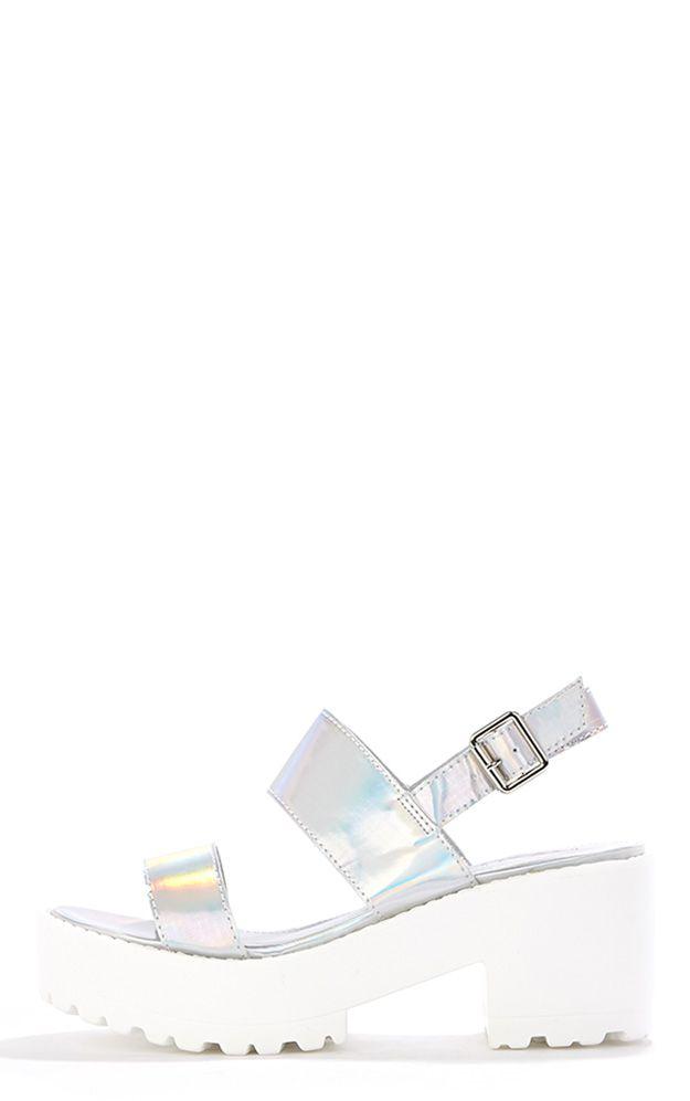 Lillian Holographic Sling Back Sandals 1