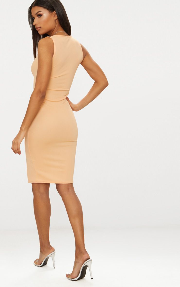 PRETTYLITTLETHING Tangerine Zip Detail Midi Dress Shopping Online Cheap Price Free Shipping View XeVw0TKE