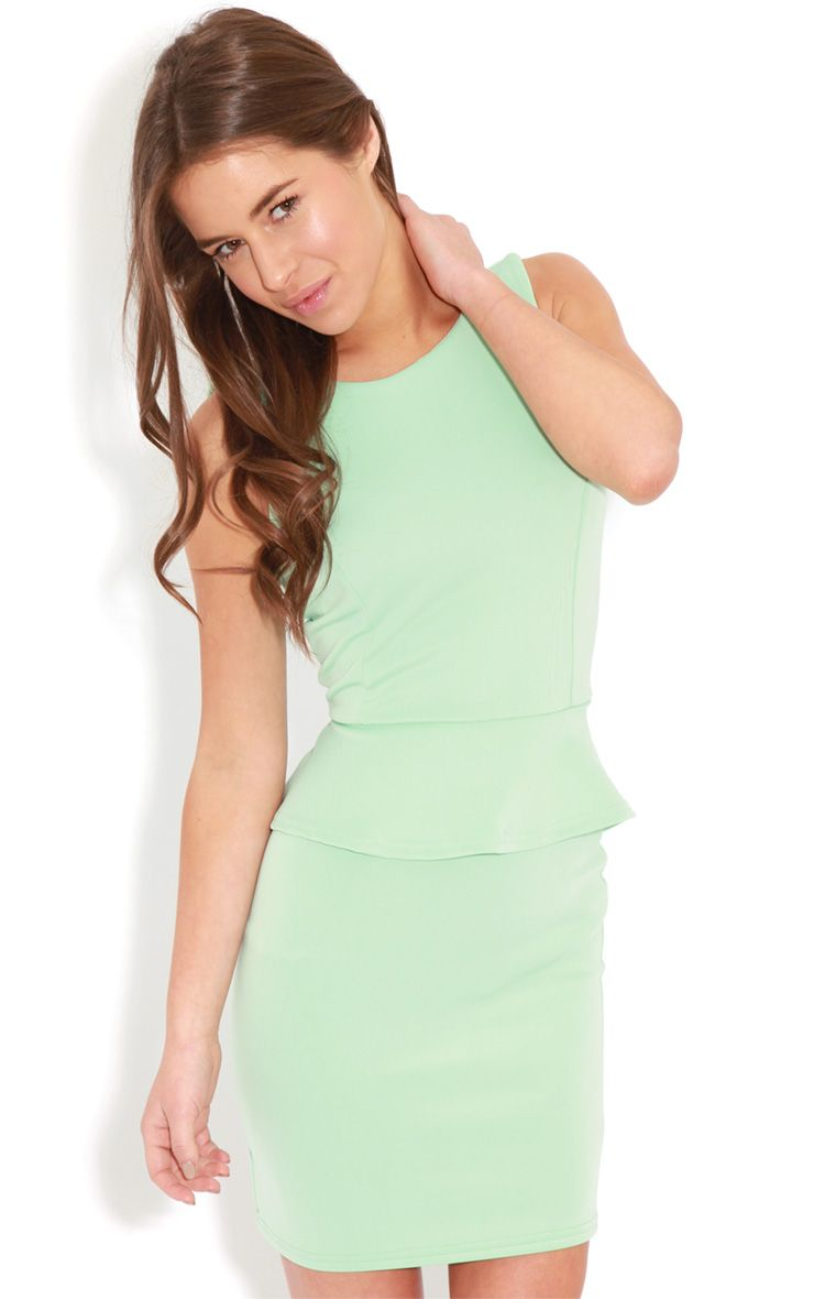Rylie Mint Peplum Dress  1