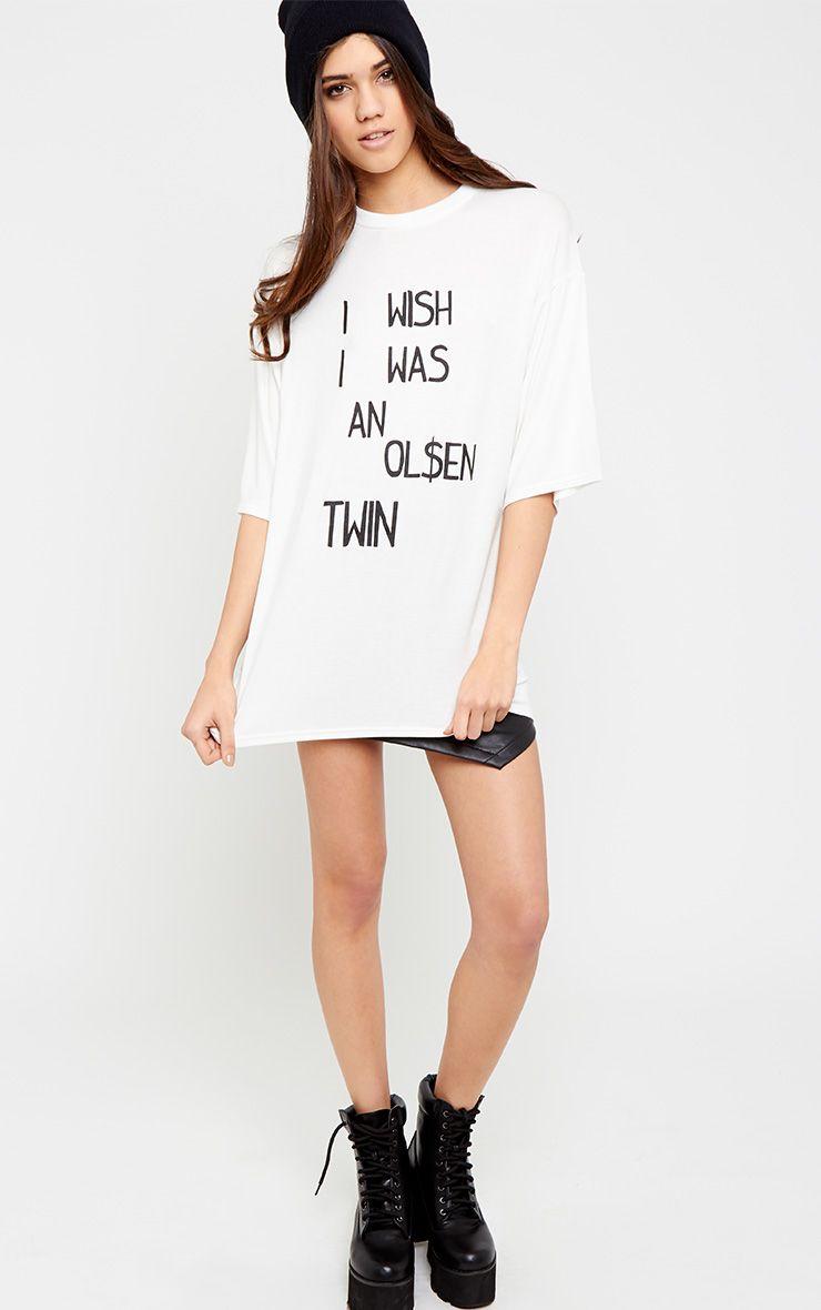 Ashley White Oversized Olsen Twin Tee 1