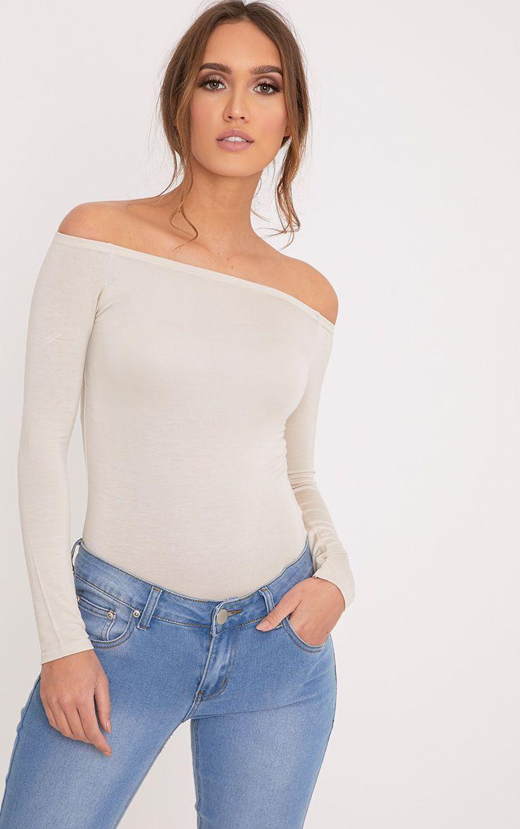Basic Stone Bardot Bodysuit