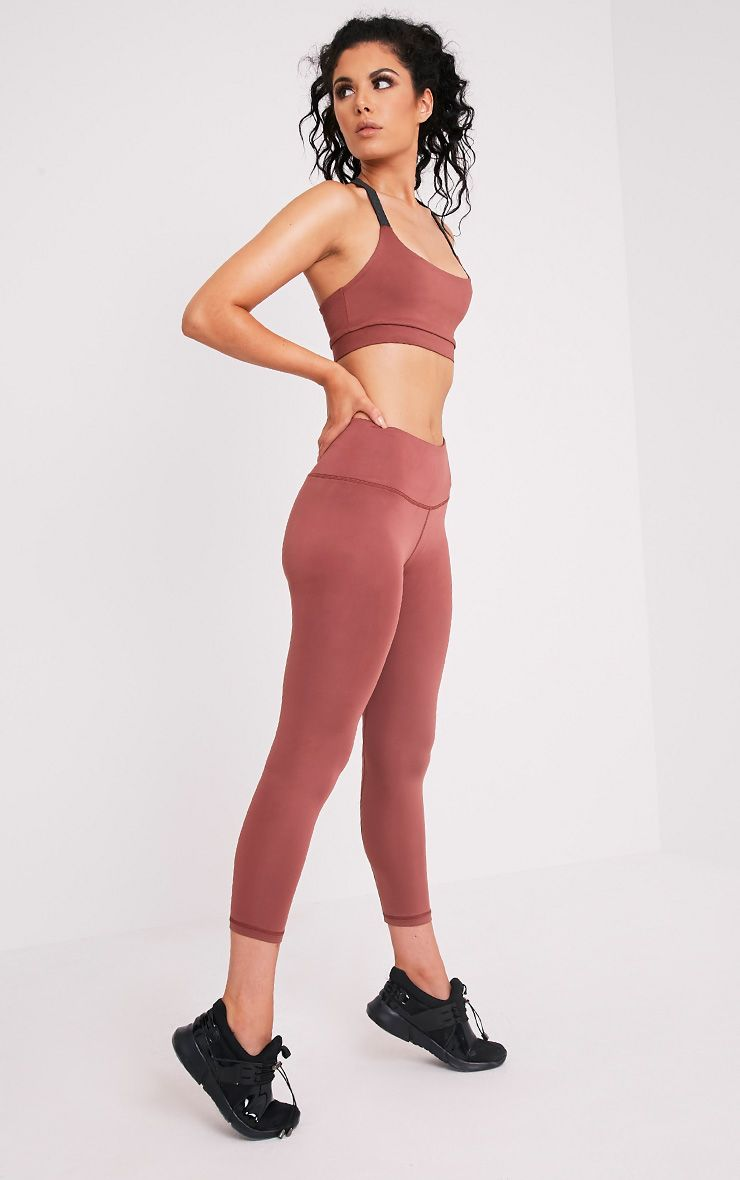 Brooke Mink Cropped Gym Leggings