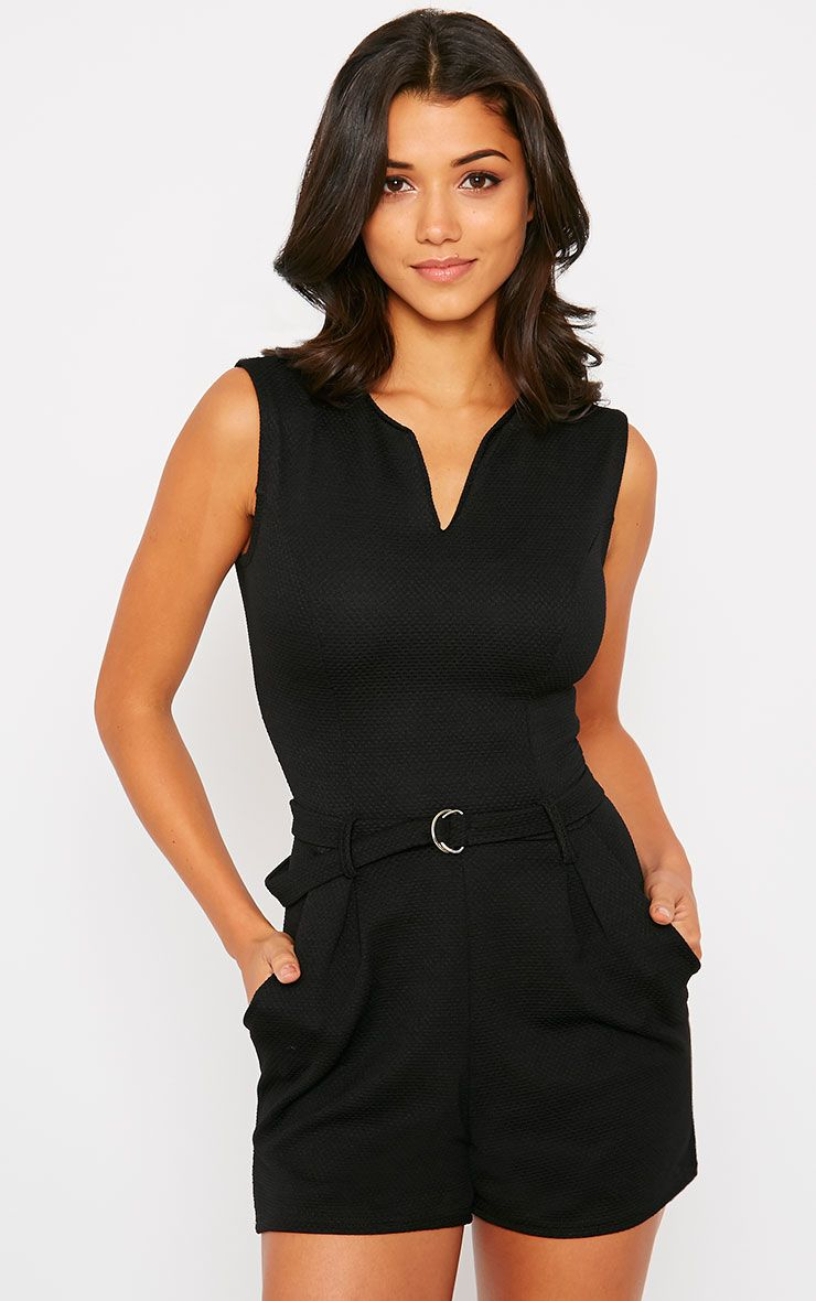 Evie Black D-Ring Playsuit 1