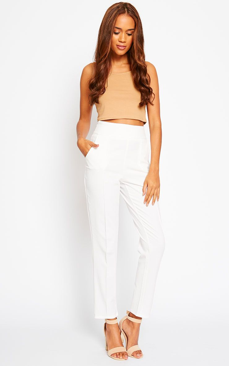Wendy Cream Front Seam Trousers 1