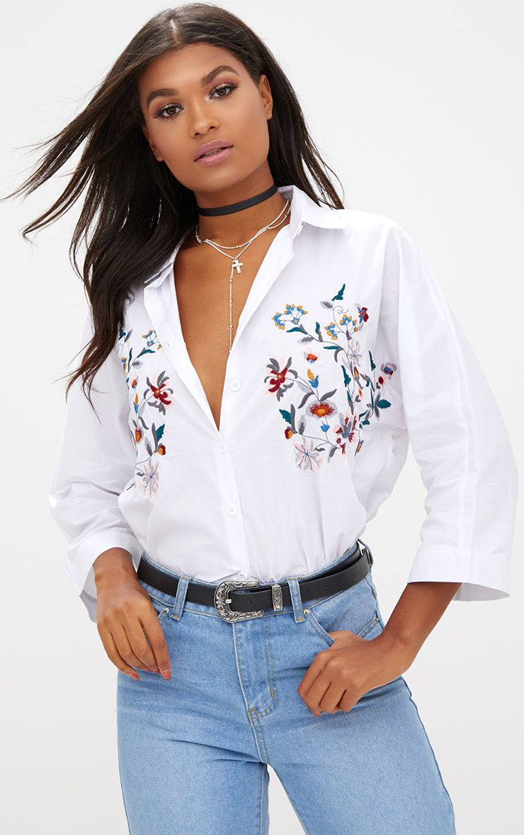 Callie White Embroidered Shirt 1