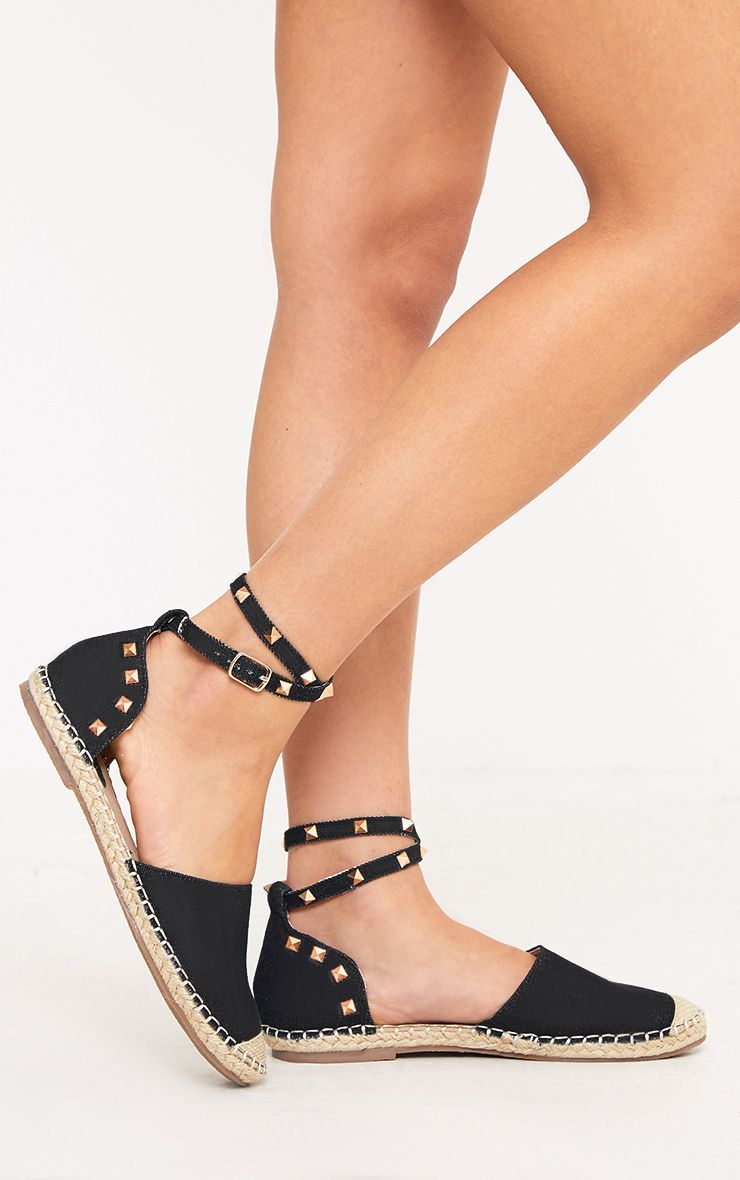Jannice Black Studded Espadrilles