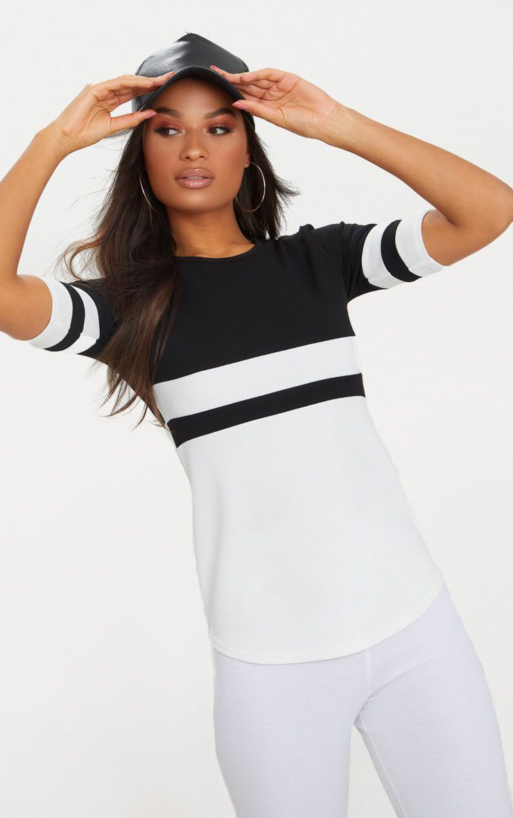 Monochrome Sports Stripe T Shirt