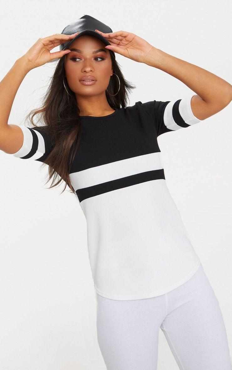 Monochrome Sports Stripe T Shirt