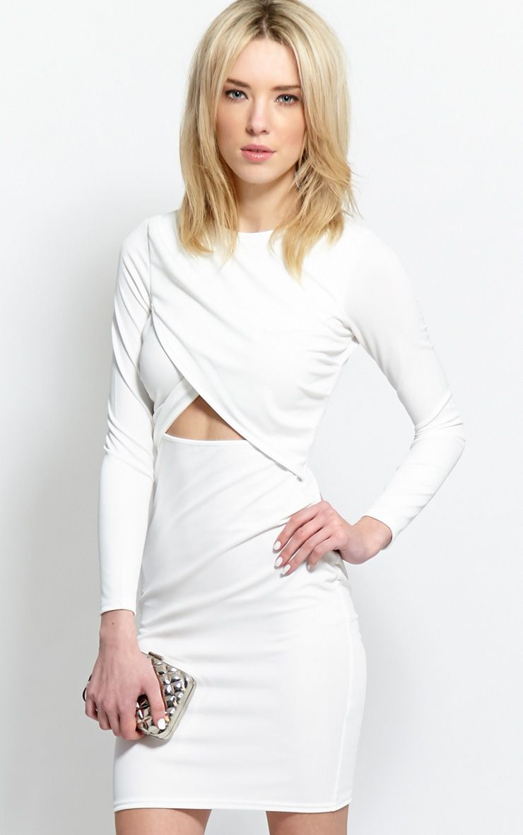 Diana White Cut-Out Bodycon Midi Dress 1