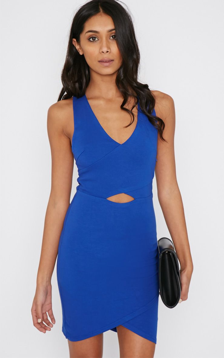 Baako Cobalt Cut Out Mini Dress 1