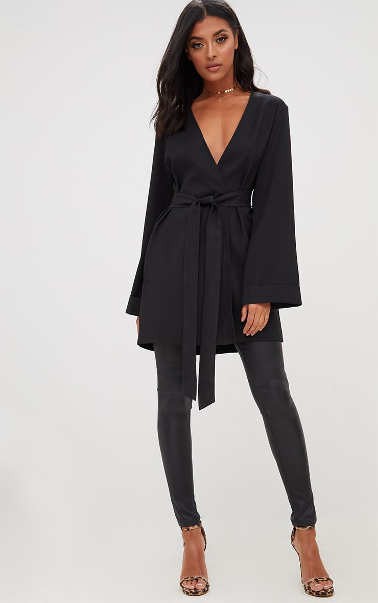 Black Oversized Longline Blazer