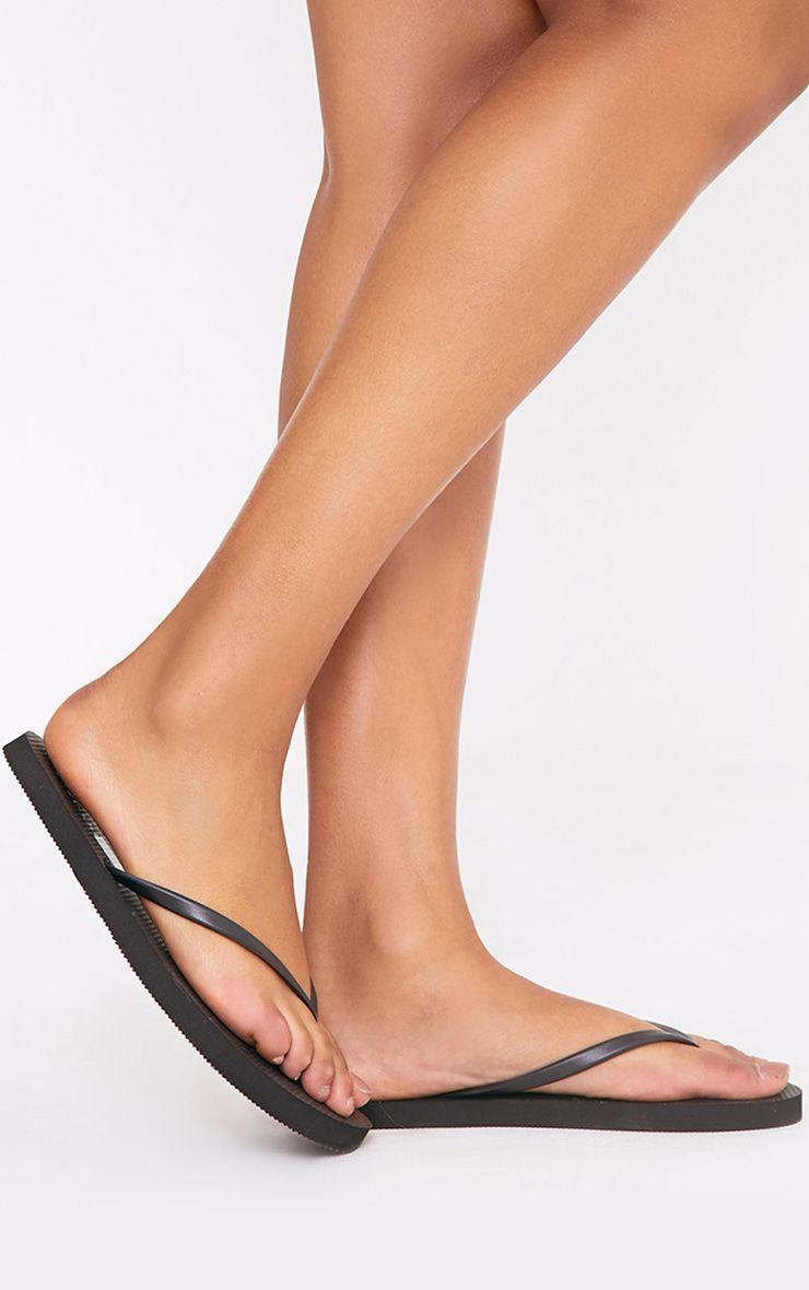 Aliza Black Flip Flops