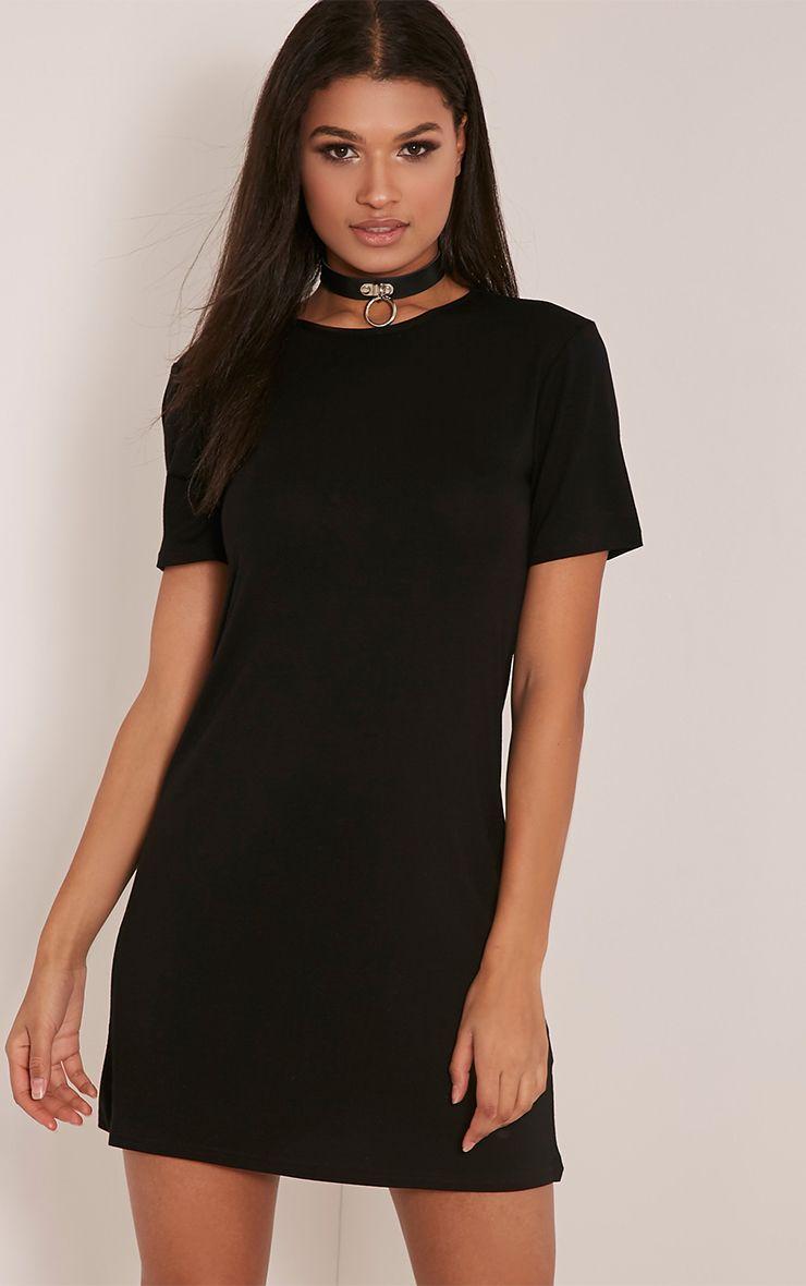 Ceelia Black T-Shirt Dress 1