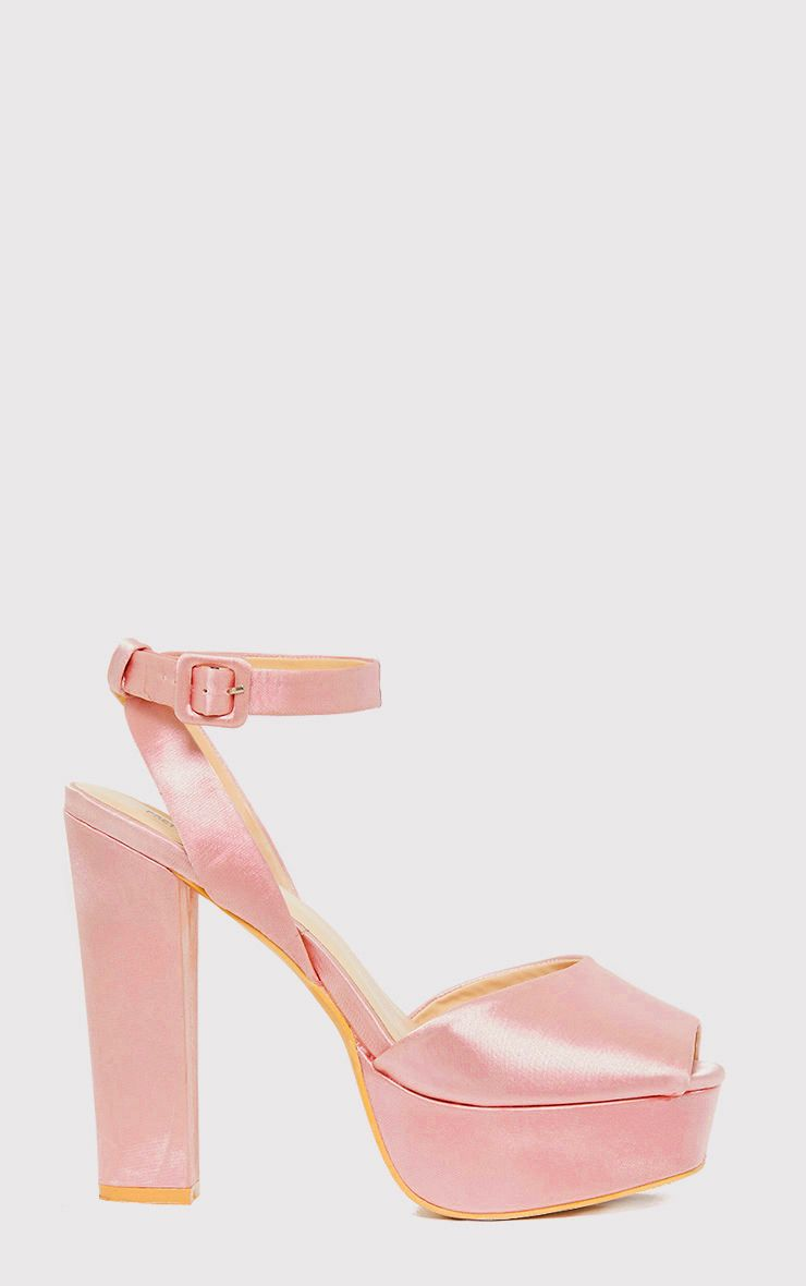 Dianne Pink Satin Platform Heels