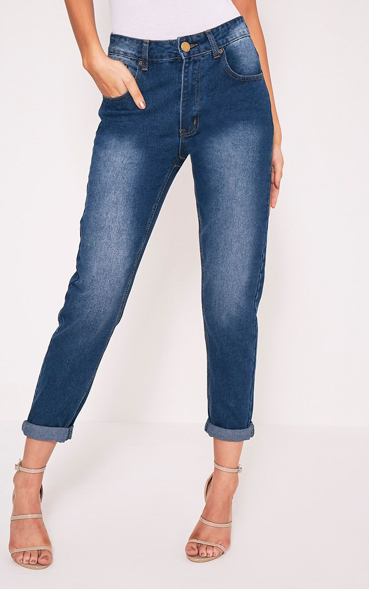 Kourtney Dark Wash Boyfriend Jean