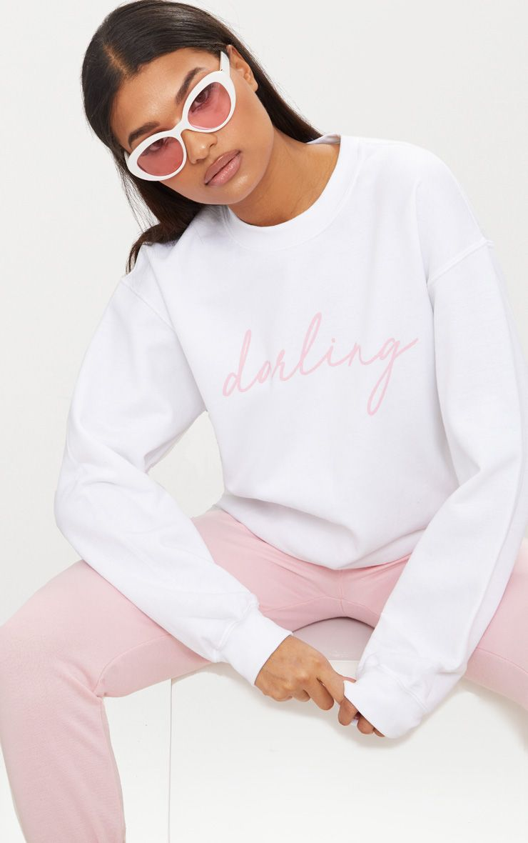 White Darling Oversized Sweater  1