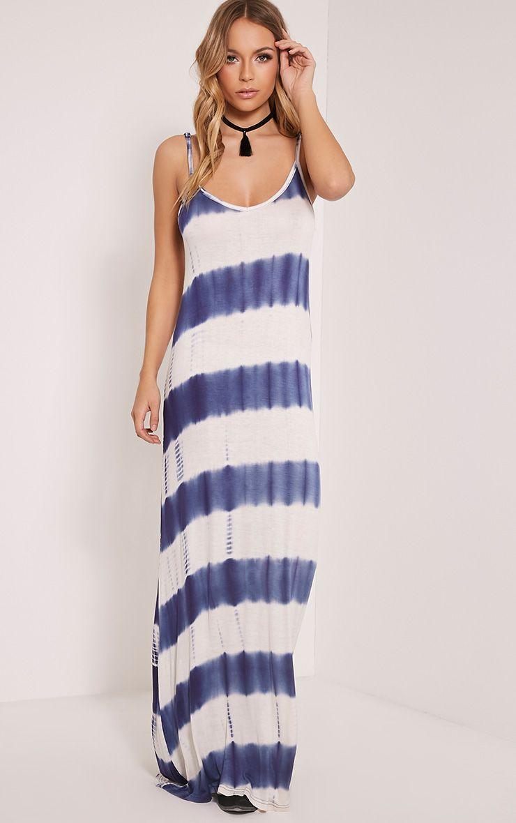 Ranita Blue Tie Dye Maxi Dress 1