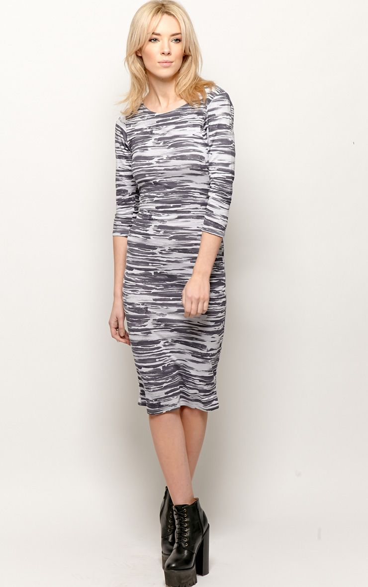Macy Zebra Print Midi Dress 1