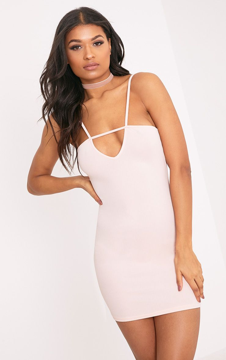 Fern Nude Cut Out Detail Bodycon Dress