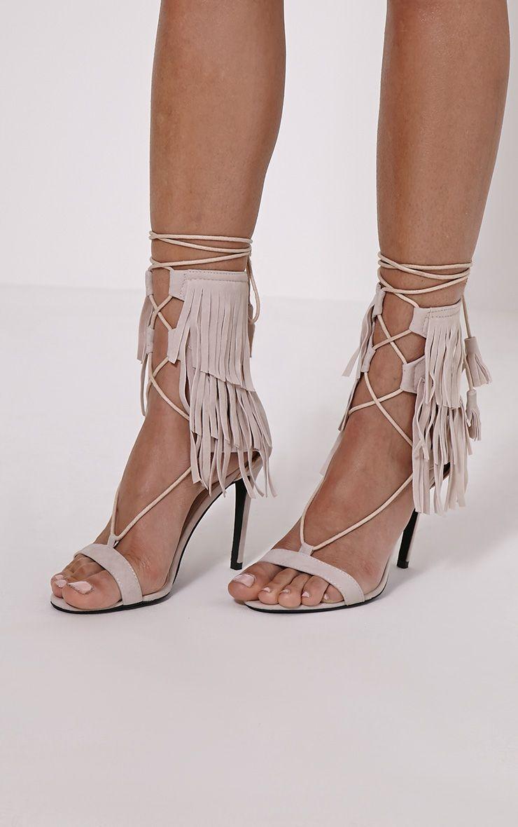 Haiden Nude Tassel Strap Sandals 1