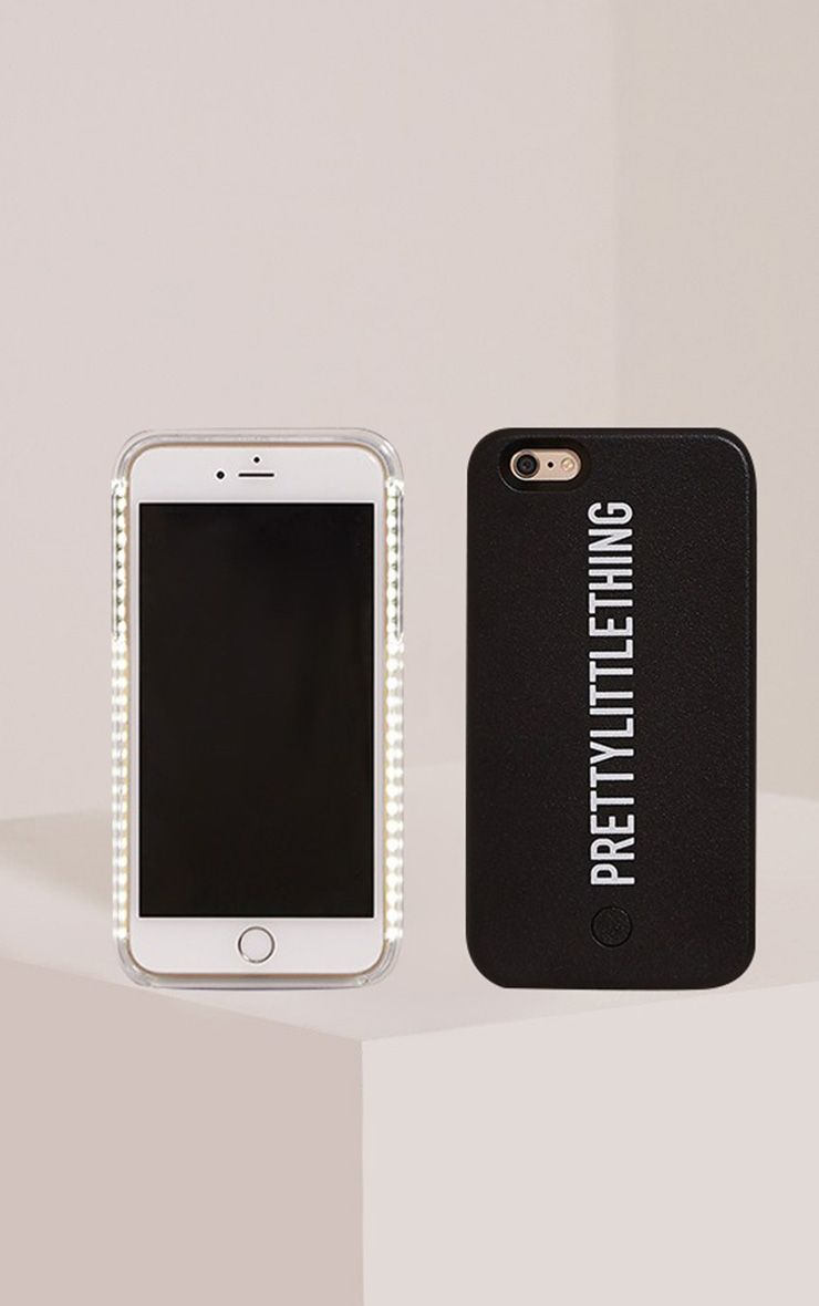 Black PrettyLittleThing Iphone 6+ Selfie Case 1