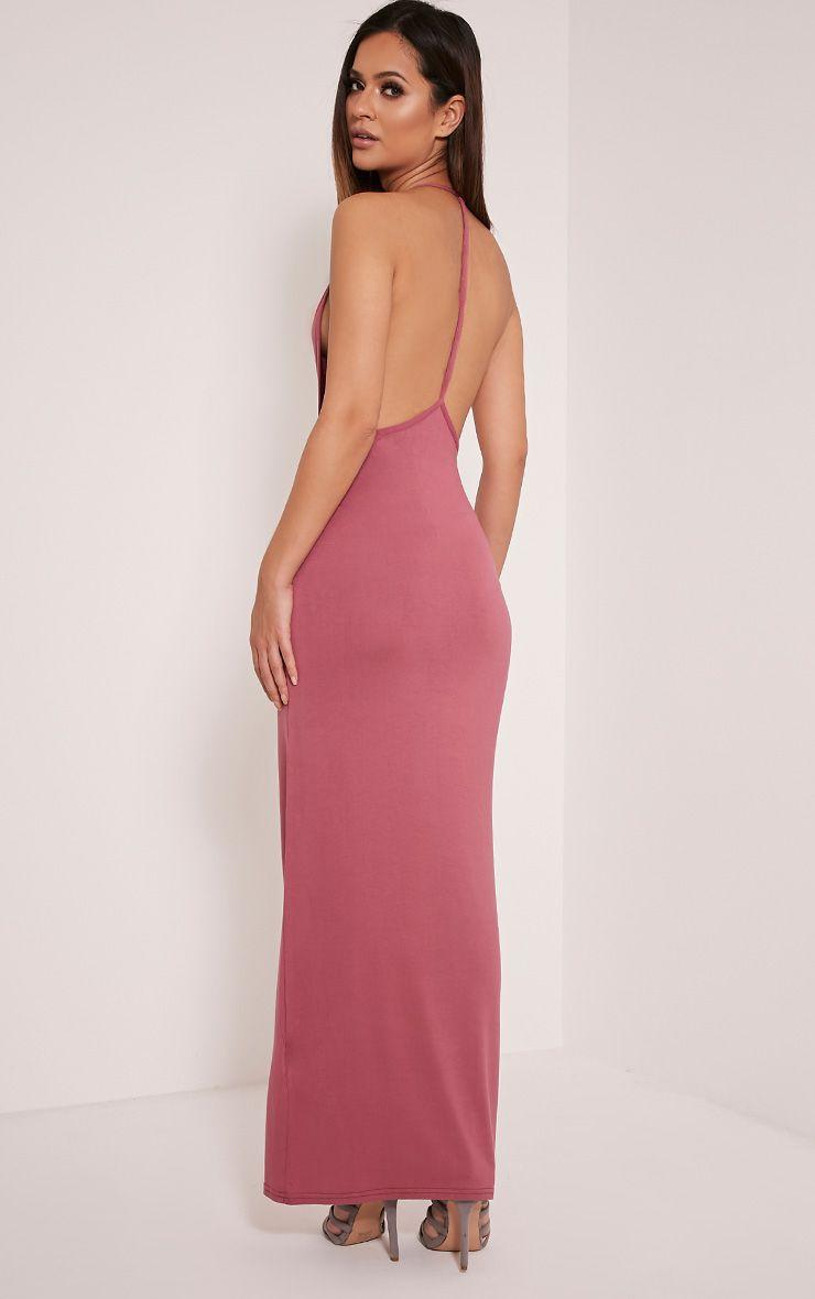 Basic Rose T Bar Back Maxi Dress 1