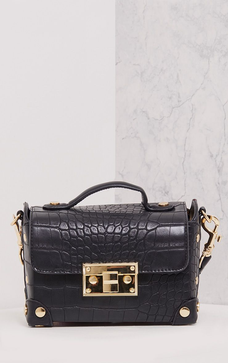 Mika Black Tape Strap Snake Bag