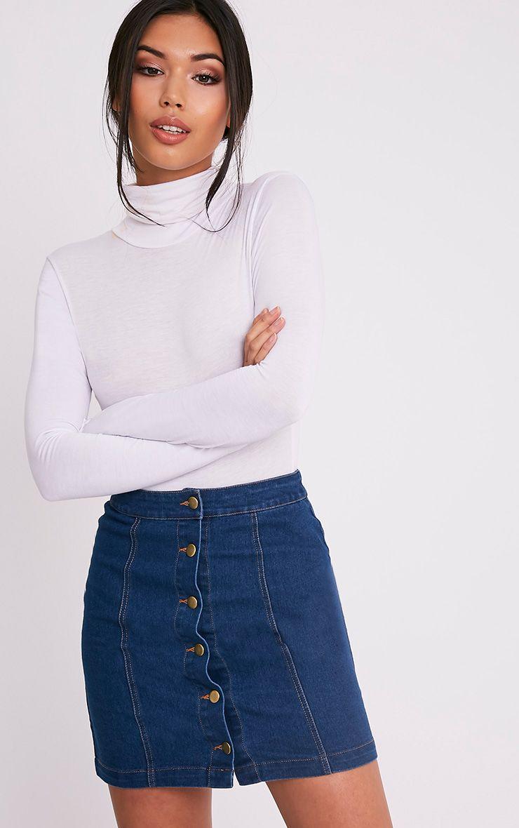Cammie Blue Denim Mini Skirt