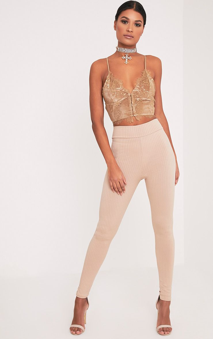 Harlie Stone Ribbed High Waisted Leggings