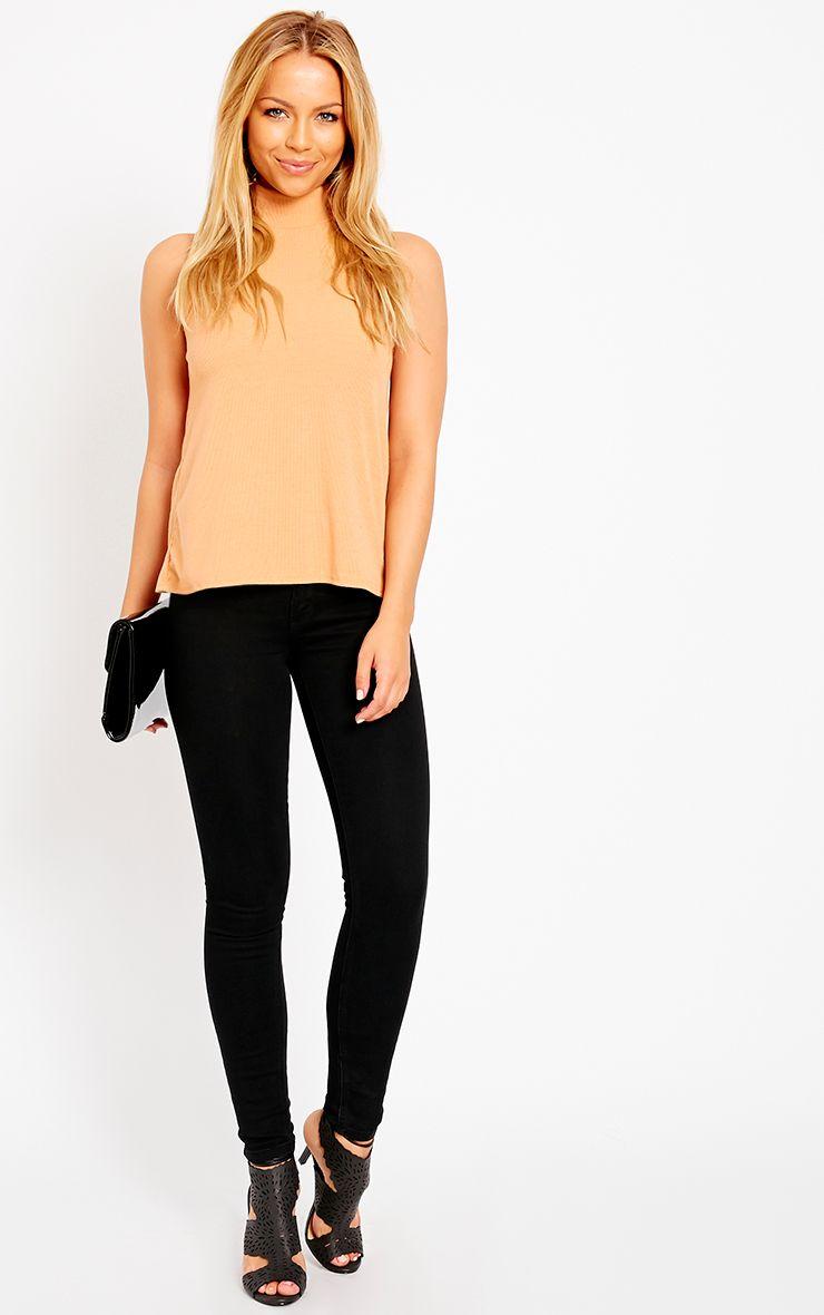 Chloe Black Ankle Grazer Skinny Jean 1