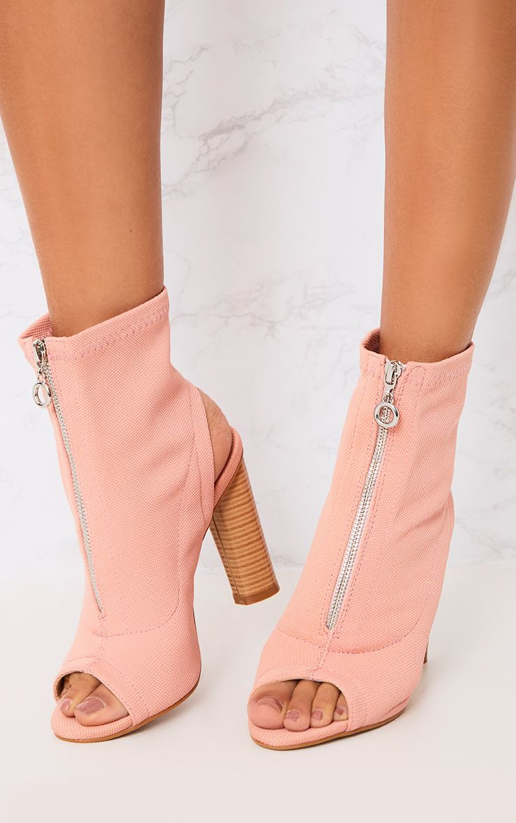Gebriel Blush Ring Zip Sock Boots