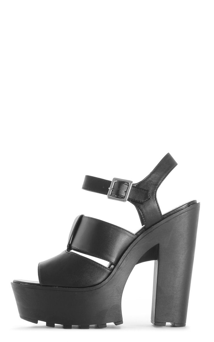 Scarlett Black Cleated Sole Sandals 1