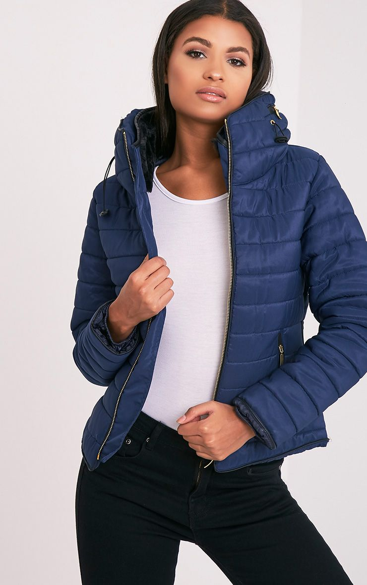 Mara Navy Padded Jacket