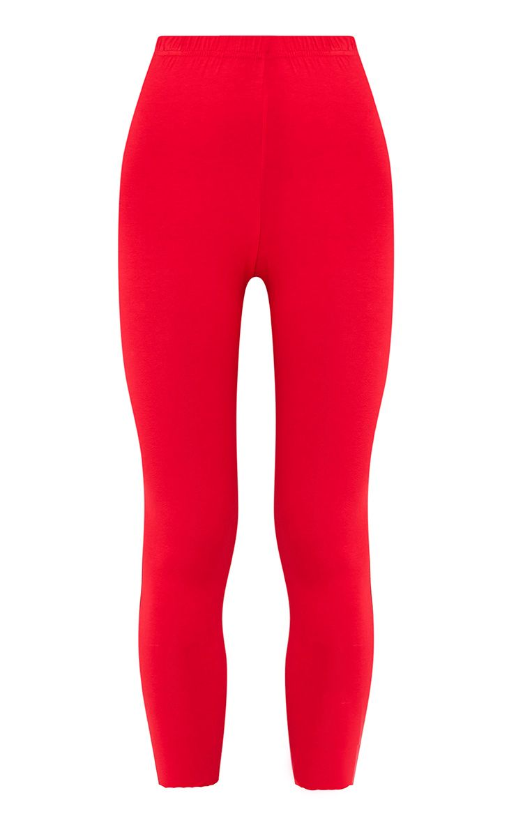Basic legging en jersey rouge 3