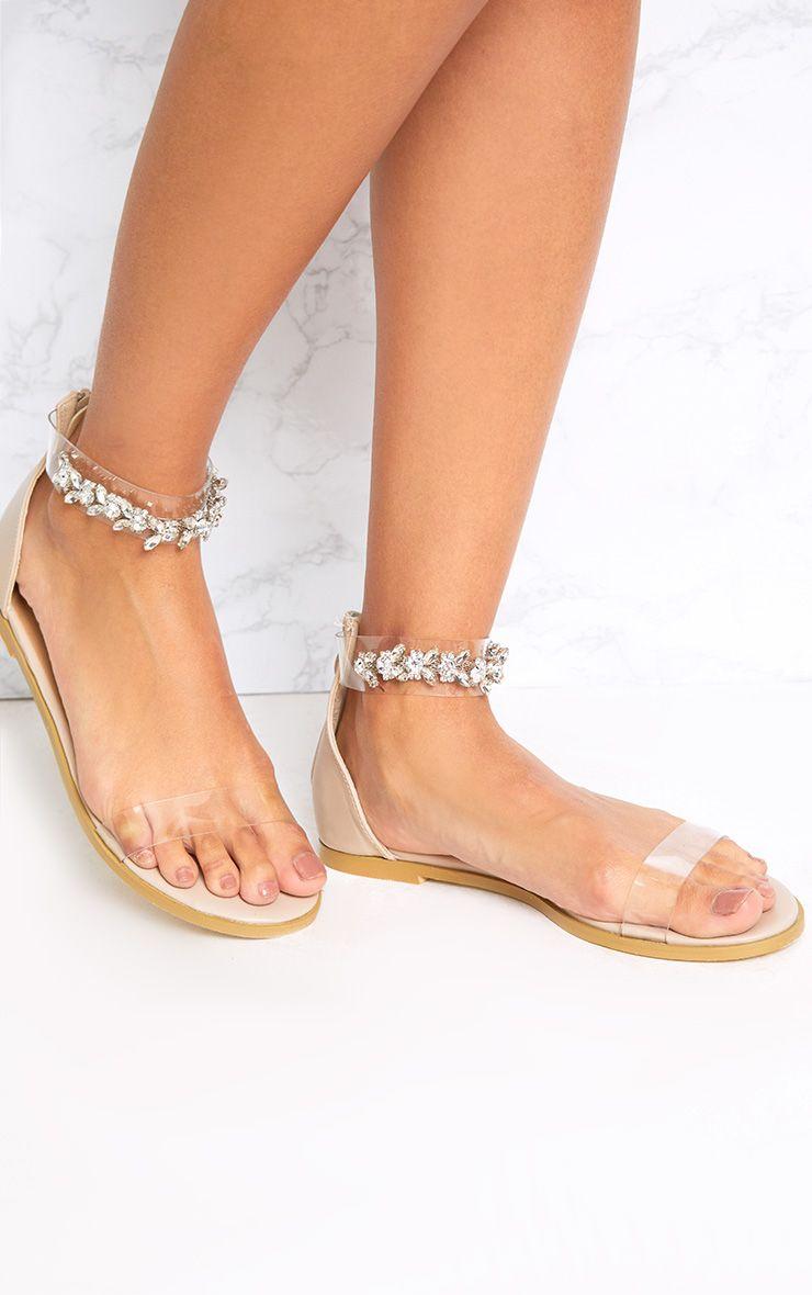 Nakita sandales chair à brides ornées de bijoux aux chevilles