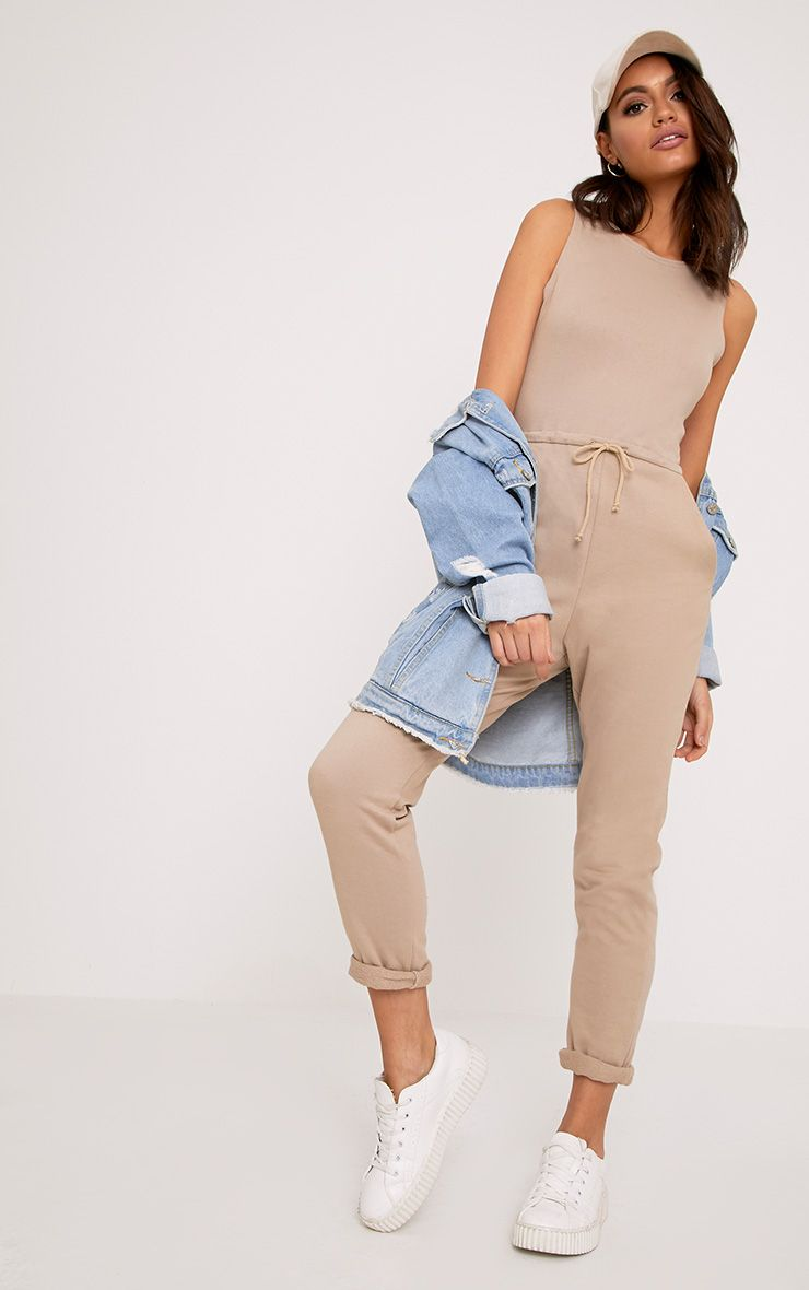 Sofie Nikki Taupe Sweat Jumpsuit