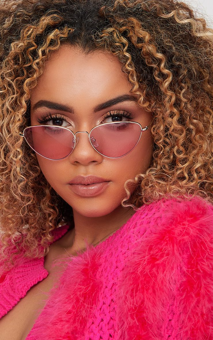 Pink Cat Eye Lense Retro Sunglasses