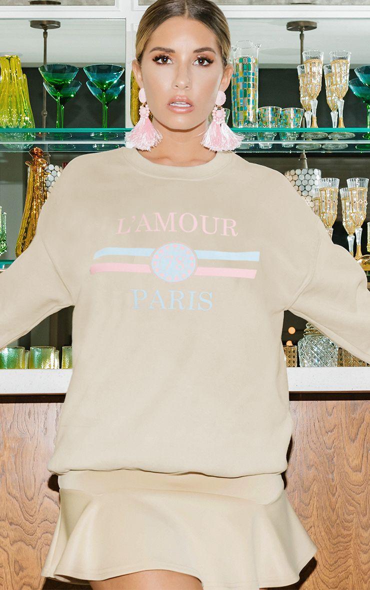 Sand Lamour Slogan Sweater