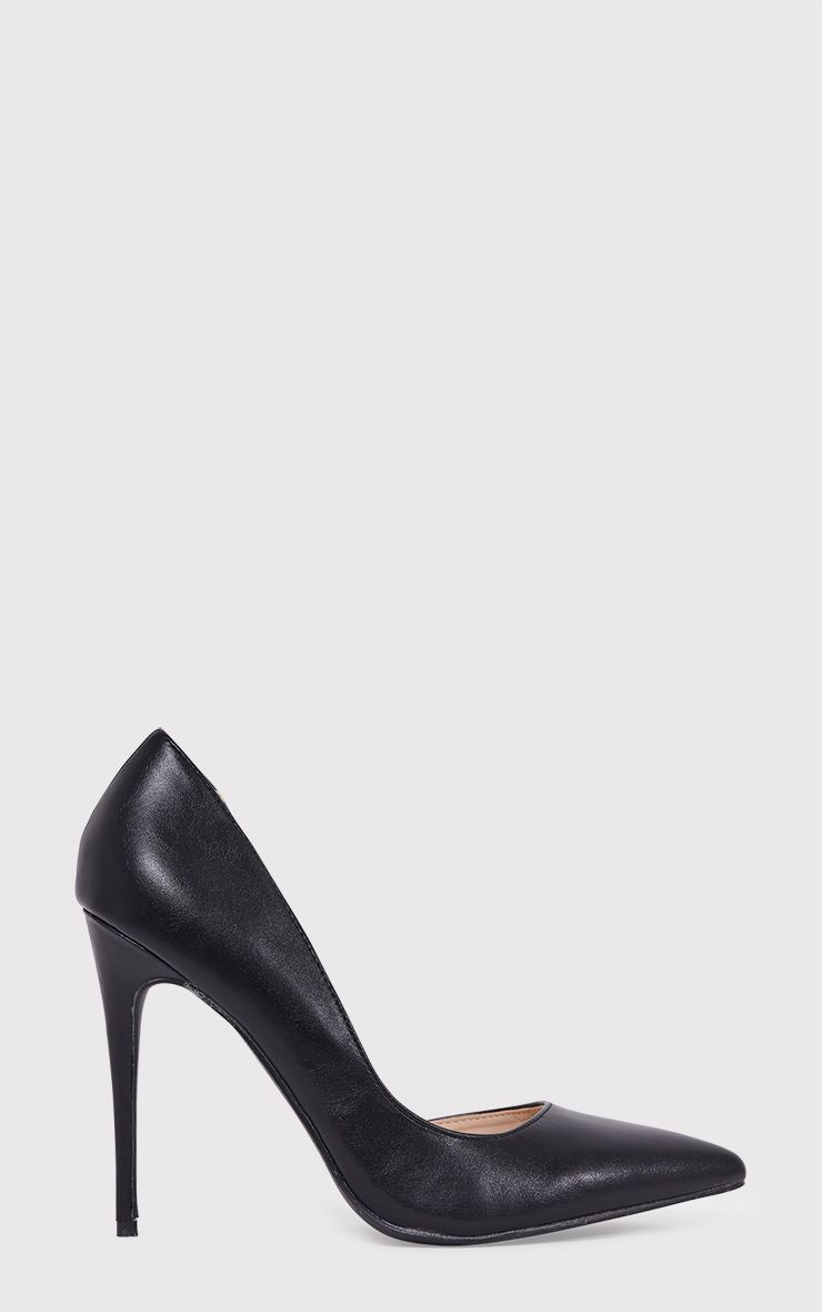 Irinia Black Cut Out Pointed Heels