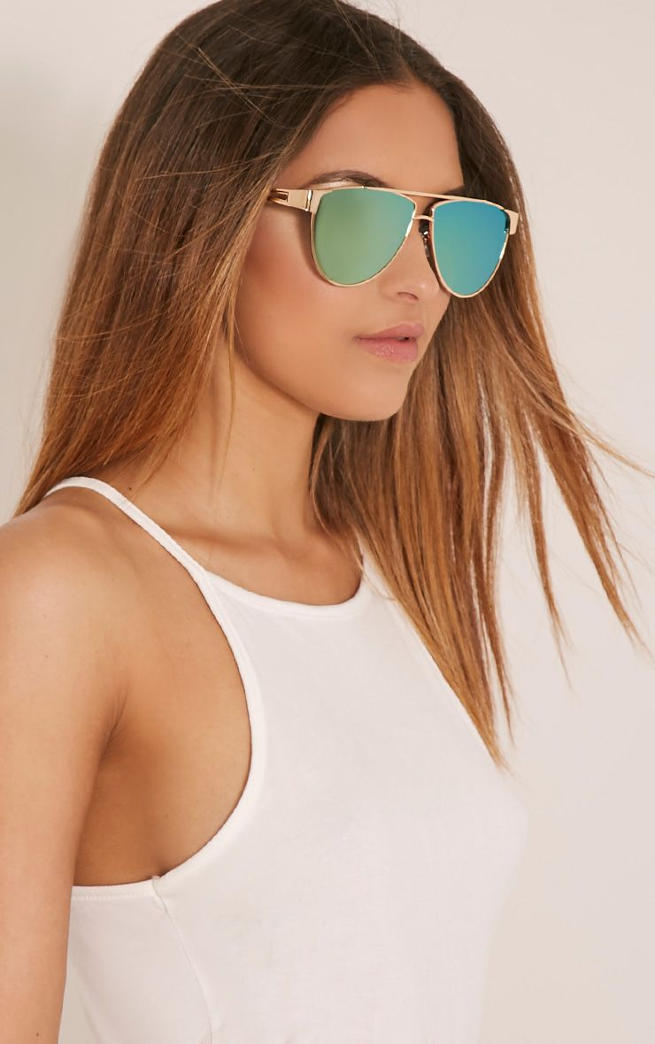 Galice Gold Frame Sunglasses